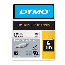 Dymo 18051 6mm White Heat Shrink Tube - S0718260