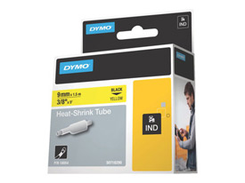 Dymo 18054 9mm Yellow Heat Shrink Tube - S0718290