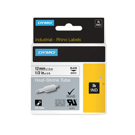 Dymo 18055 Rhino 12mm White heat Shrink Tube - S0718300