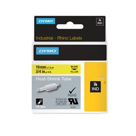 Dymo 18058 19mm Yellow Heat Shrink Tube - S0718340