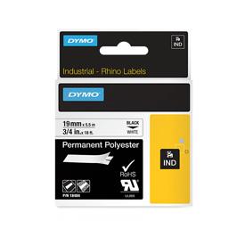 Dymo 18484 19mm Black on White Tape - S0718220