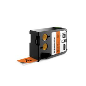 Dymo 1868768 XTL 24mm x 7m Roll All-Purpose Vinyl Black on Orange
