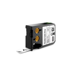Dymo 1868807 XTL 19mm x 5.5m Roll Flexible Cable Wrap Black on White