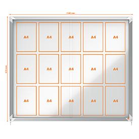 Nobo 1902609 External Glazed Case 15 x A4 Magnetic Sliding Door