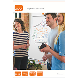 Nobo 1915100 50 Page 650x960mm Flipchart Pad Pack of 5