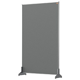 Nobo 1915503 Grey Impression Pro Desk Divider 600x1000mm