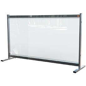 Nobo 1915548 Premium Plus Clear PVC Protective Desk Divider Screen 1470x860mm