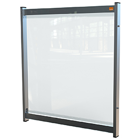 Nobo 1915550 Premium Plus Clear PVC Modular System Desk Divider Screen 700x800mm