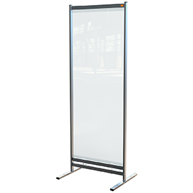 Nobo 1915552 Premium Plus Clear PVC Free Standing Protective Room Divider Screen 780x2060mm