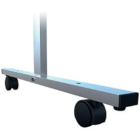 Nobo 1915554 Premium Plus Clear PVC Protective Divider Screen Castors x4