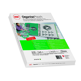 GBC 3747515 Organise Laminating Pouches 2x75 Micron Gloss A4 Pack of 25