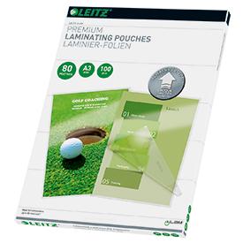 Leitz 74850000 A3 UDT iLAM 2 x 80 Micron Pouch 100Pk