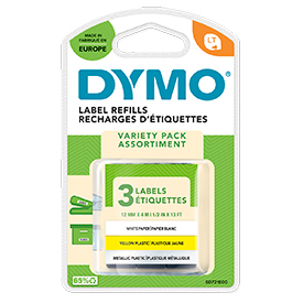 Dymo 91240 Letratag Starter Kit - 3 Pack Letratag Rolls