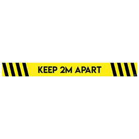 Avery Yellow and Black COVID-19 Pre-Printed 2m Keep Apart Floor Sticker