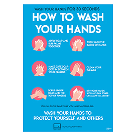 Avery A4 COVID-19 Pre-Printed How To Wash Your Hands Poster