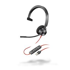 Poly Blackwire 3310 USB-A UC Monaural Headset