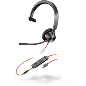 Poly Blackwire 3315 USB-C UC Monaural Headset