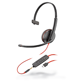 Poly Blackwire C3215 USB-C Monaural Headset