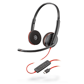 Poly Blackwire C3225 USB-C Stereo Headset NC