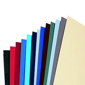 GBC CE040070 Leathergrain A4 Binding Cover White pack of 100