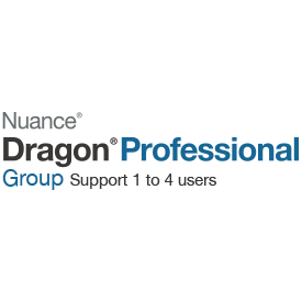 Nuance Dragon Professional Group 15 Licence 1 to 4 users