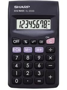 Sharp EL233SBBK Handheld Calculator
