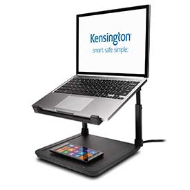Kensington K52784WW SmartFit EasyRiser with Wireless Phone Charging Pad