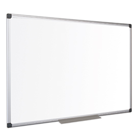 Bi-Office Maya Melamine Aluminium Framed Dry-wipe Board 1800x1200mm