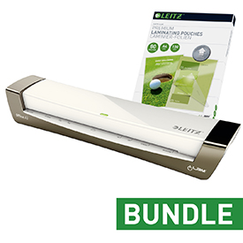 Leitz iLAM Office A3 Silver Laminator and pouches Bundle