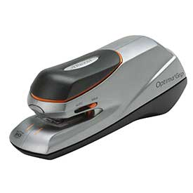 Rexel 2102348 Optima Grip Electric Stapler Silver and Black