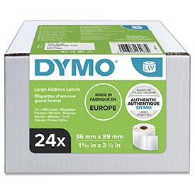 Dymo 99012 24 Rolls of 36mm x 89mm Large Address Permanent Labels