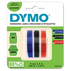 Dymo S0847750 Embossing Tapes Pack of 3