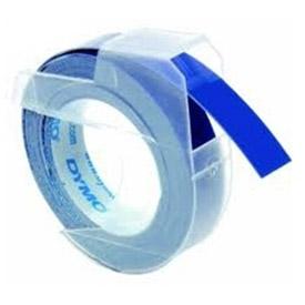 Dymo S0898140 White on Blue Embossing Tape