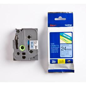 Brother TZE551 Black on Blue 8M x 24mm Gloss Tape