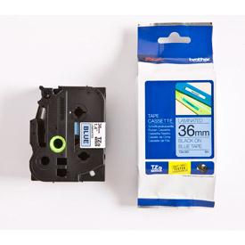 Brother TZE561 Black on Blue 8M x 36mm Gloss Tape