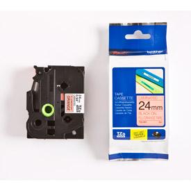 Brother TZEB51 Black on Orange  5M x 24mm Fluorescent Tape