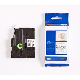 Brother TZEN201 Black on White 8M x 3.5mm Non Laminated Tape