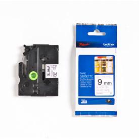 Brother TZEN221 Black on White 8M x 9mm Non Laminated Tape